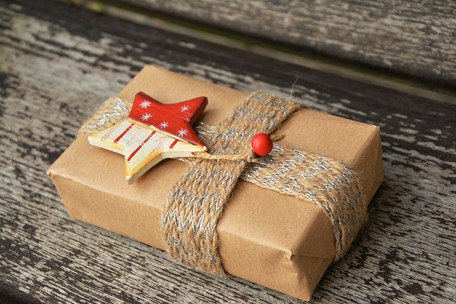 Photo of gift wrapped box