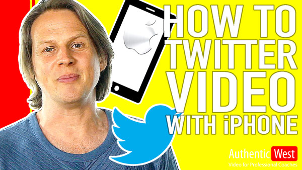 How to create a twitter video with your iphone
