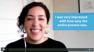 Thumbnail for video testimonial